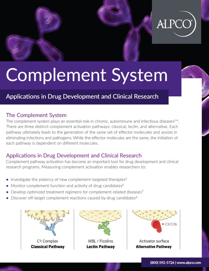 Thumbnail preview of the Complement System Handout for Applications in Drug Development and Clinical Research