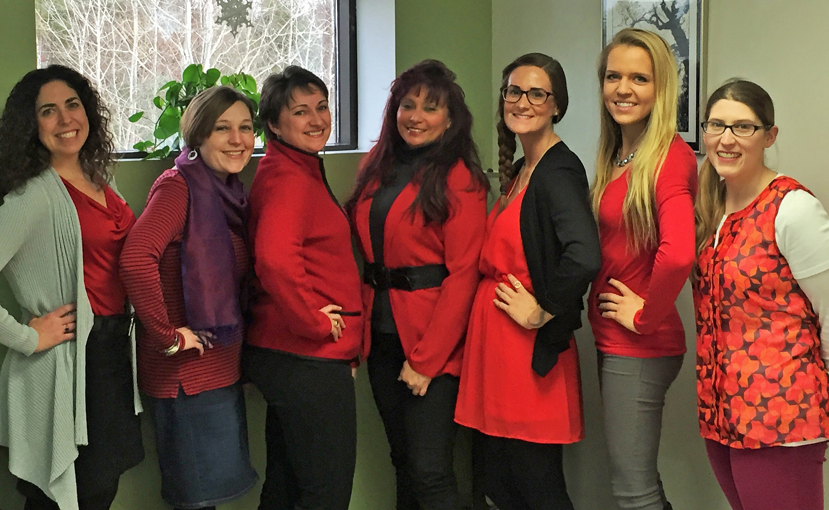 Some of the lovely ladies at ALPCO wore red to support National Wear Red Day.