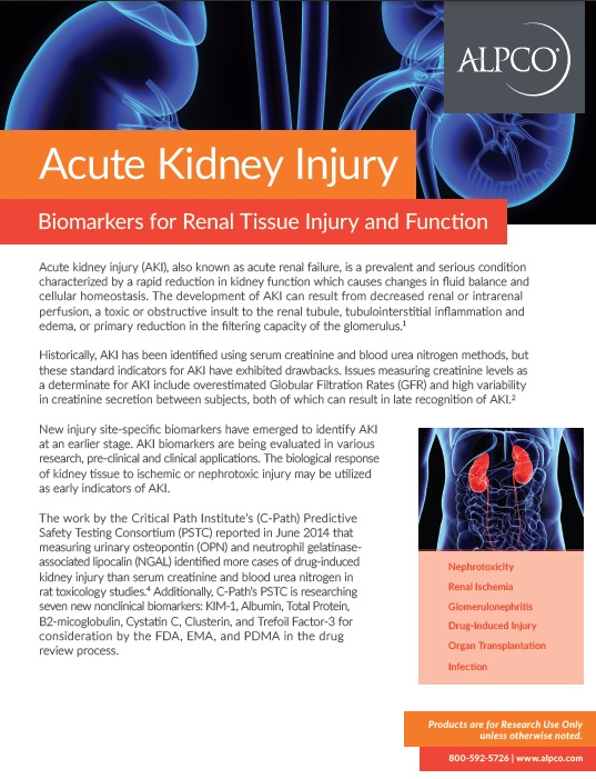 Acute Kidney Injury Biomarkers for Renal Tissue Injury Function