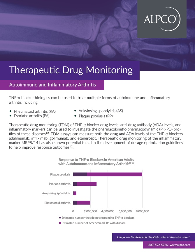 Thumbnail preview of the Therapeutic Drug Monitoring of Autoimmune and Inflammatory Arthritis handout.