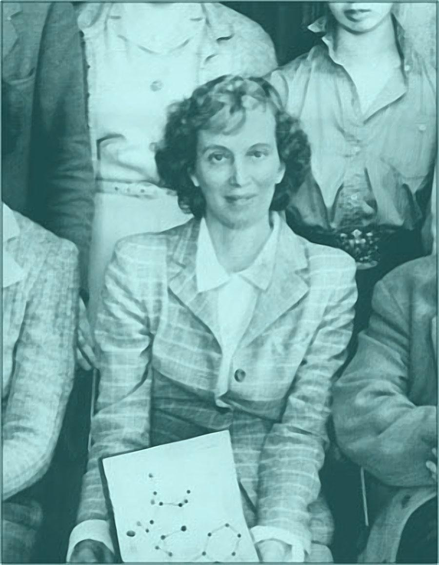 A photo of Dorothy Hodgkin.