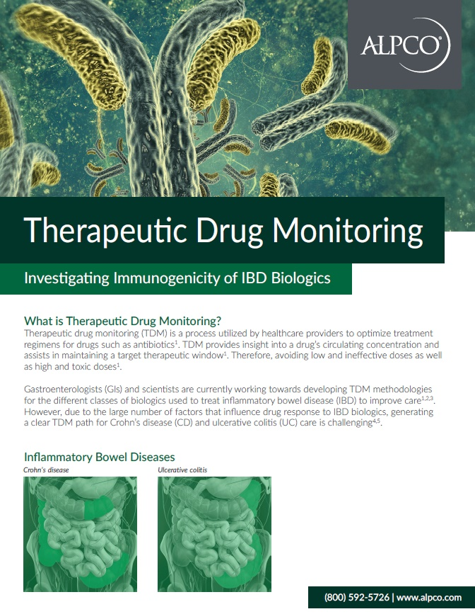 A thumbnail preview of our brochure outlining the process of investigating immunogenicity of IBD biologics.