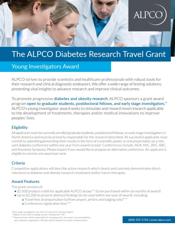 This is a thumbnail preview of our diabetes research travel grant brochure.